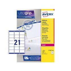 Etichette adesive Avery - per indirizzi - QuickPEEL - 63,5x38,1 mm - 21 etichette/ff - 100 fogli
