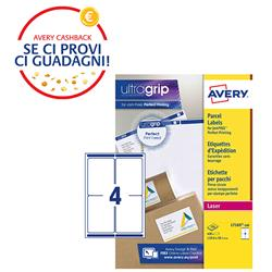 Etichette adesive Avery - per indirizzi - BlockOut™ - 99,1x139 mm - 4 etichette/ff - 100 fogli