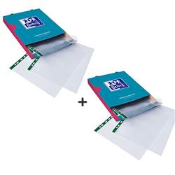 Elba Glass Clear Multipunched Pocket Green Strip A4 Ref 202908 - Pack 100 -  2 for 1
