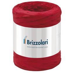 Nastro in rafia sintetica Brizzolari - 5 mm x 200 mt - rosso