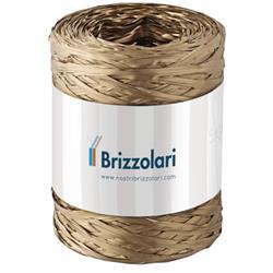 Nastro in rafia sintetica Brizzolari - 5 mm x 200 mt - oro