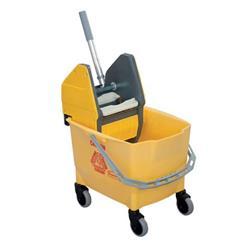 Carrello pulizia monovasca Rubbermaid Combo Bravo (Secchio da 25 l + Strizzatore) giallo