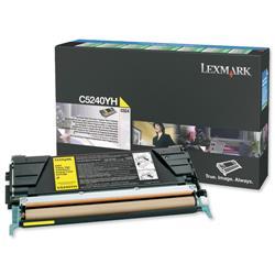 Lexmark Laser Toner Cartridge Return Program High Yield Page Life 5000pp Yellow Ref C5240YH