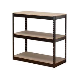Influx Storage Shelving Unit Heavy-duty Boltless 3 Shelves Capacity 3x 150kg W950xD450xH940mm Black