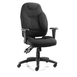 Galaxy Task Operator Chair Black Fabric With Arms Ref OP000064
