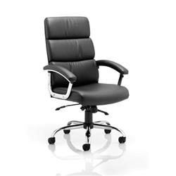 Desire Executive Chair Black Bonded Leather With Arms And Headrest Ref EX000019