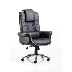 Chelsea Executive Chair Black Bonded Leather With Arms Ref EX000001