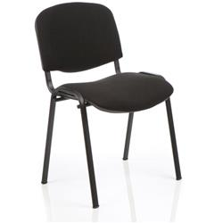 ISO Stacking Chair Black Fabric Black Frame Without Arms Ref BR000055