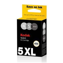 Kodak Verite No.5XL Black Ink Cartridge (Yield 400 Pages) for Kodak Verite 55 Wireless Inkjet Printer