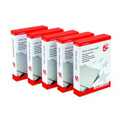 5 Star Value Copier Paper Multifunctional Ream-Wrapped A4 White [5 x 500 Sheets]