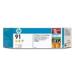Bundle: HP Multipacks 3 x 91 Ink Cartridge (775 ml) with Vivera Ink (Yellow)
