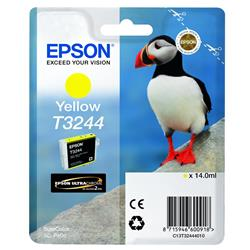 Epson Puffin T3244 (14ml) Ultrachrome Hi-Gloss2 Yellow Ink Cartridge for SureColor SC-P400 Printer