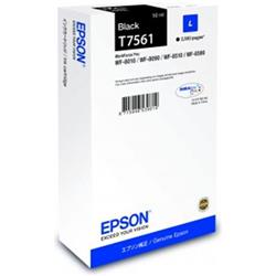 Epson T7561 (Yield 2500 Pages) L Black Ink Cartridge (50ml) for WorkForce WF-8XXX Series Printers