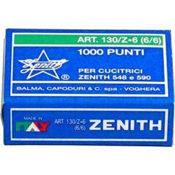 Punti per cucitrici universali Zenith 130/Z6 passo 6/6  - 10 conf. da 1000 punti