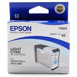 Epson T5805 (Volume: 80ml) Light Cyan Ink Cartridge