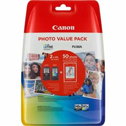 Canon Value Pack 4X6 (50 Sheets of Photo Paper) PG-540XL/CLl-541XL (Pack of 2 Ink Cartridges)