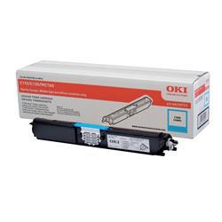 OKI Cyan Toner Cartridge (Yield 2,500 Pages) for C110/C130/MC160 Colour Printers