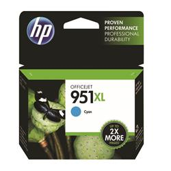 Hewlett Packard (HP) No. 951XL Inkjet Cartridge High Capacity Page Life 1300pp Cyan Ref CN046AE #BGX