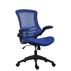 Marlos Mesh Back Office Chair With Folding Arms - Blue Ref CH0790BL