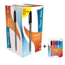 Paper Mate InkJoy 100 Ballpoint Pen Blue Ref S0957130 [Pack 50] [8 Assorted FREE]