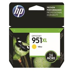 Hewlett Packard (HP) No. 951XL Inkjet Cartridge High Capacity Page Life 1300pp Yellow Ref CN048AE #BGX