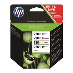 HP 920XL 4-pack High Yield Black/Cyan/Magenta/Yellow Original Ink Cartridges (C2N92AE) - Up to £30 Cashback