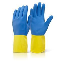 Click2000 2 Colour Heavyweight Glove Yellow/Blue L Ref BCYBL [Pack 10]