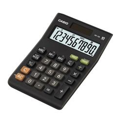 Casio Desktop Calculator 10 Digit 3 Key Memory Battery/Solar Power 103x29x147mm Black Ref MS-10B