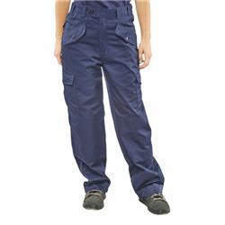 Super Click Workwear Ladies Polycotton Trousers Navy Blue 32 Ref LPCTHWN32