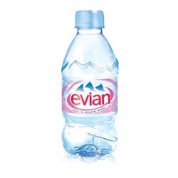 Evian Natural Mineral Water Bottle Plastic 330ml Ref 01310 - Pack24