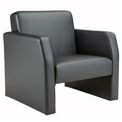Face Single Leather Seat Armchair - Black Ref FA1/BL/BLK
