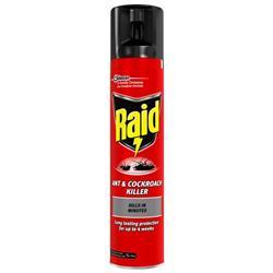 Raid Ant & Cockroach Insecticide Aerosol 300ml Ref 97734