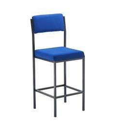Summit High Stools With Back Rest Blue Ref CH0540RB