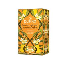 Pukka Individually Enveloped Tea Bags Lemon Ginger and Manuka Ref 5060229011541 [Pack 20]