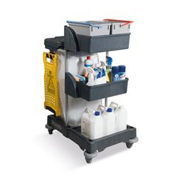 Numatic Xtra Compact XC3 Cleaning Trolley with 2 Buckets and 2 Tray Units Ref 758039
