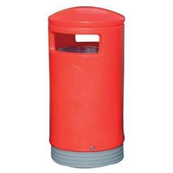Outdoor Hooded Bin Top Red