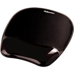 Mousepad con supporto polso Crystal gel - Fellowes - 20,2x23x3,2 cm - nero