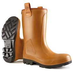 Dunlop Purofort Rigair Safety Rigger Boots Size 7 Tan Ref C462743.FL07