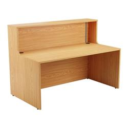Reception Unit 1600 - Nova Oak Sides With Nova Oak Top Ref RCA1600NONO