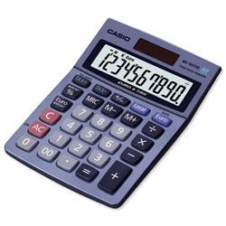 Casio MS-100TER Desktop Calculator Battery/Solar Power 10 Digit Tax Key Ref MS100TER