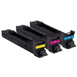 Konica Minolta Laser Toner Cartridge Value Pack Page Life 4000pp Cyan/Magenta/Yellow Ref A0DKJ51