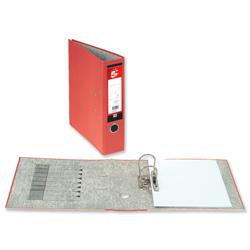 5 Star Office Lever Arch File 70mm Foolscap Red [Pack 10]