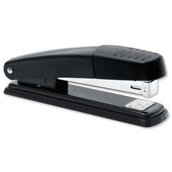 5 Star Office Stapler Full Strip Metal Top and Base Top Loading Capacity 20 Sheets Black