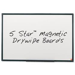 5 Star Office Drywipe Board Magnetic Lightweight with Fixing Kit and Detachable Pen Tray W900xH600mm