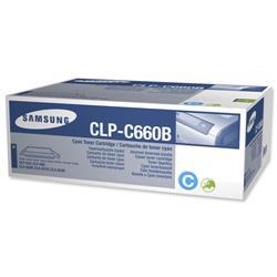 Samsung CLP-C660B Cyan High Capacity Laser Toner Cartridge for CLP-610/CLP660/CLX-6200 Ref CLP-C660B/ELS