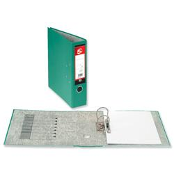 5 Star Office Lever Arch File 70mm A4 Green [Pack 10]