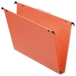 Esselte Orgarex Suspension File Kraft Square Base 30mm Capacity A4 Orange Ref 10103 A4 - Pack 25