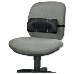 Fellowes Portable Lumbar Support Soft-Brushed Cover Adjustable-straps Ref 8042101