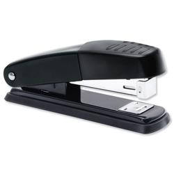5 Star Office Stapler Half Strip Metal Top and Base Top Loading Capacity 20 Sheets Black