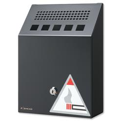 Durable Ash Bin Wall-mounted Capacity 2.5 Litres 205x80x275mm Charcoal Ref 3333/01